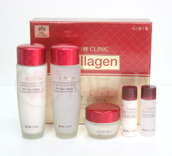 Набор с коллагеном для ухода за лицом 3W Clinic Collagen Skin Care 3 Items Set
