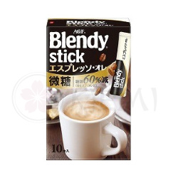 Agf Blendy Stick Coffee Кофе эспрессо с пониженным содержанием сахара 3 в 1